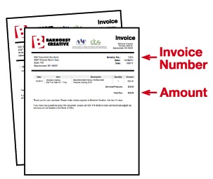 Pay Multiple Invoices - Invoice amount